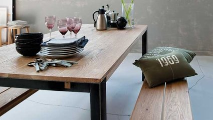 Table a lovely therapy - Salle a manger bois et metal ...